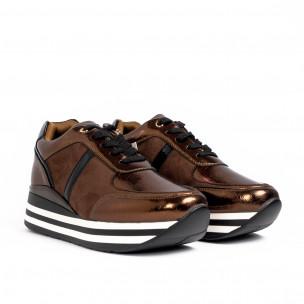 Pantofi sport de dama Martin Pescatore maro 2