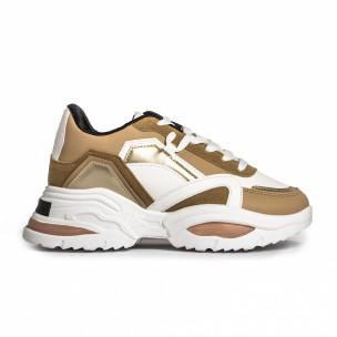 Pantofi sport de dama FM camel