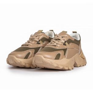Pantofi sport de dama FM bej 2