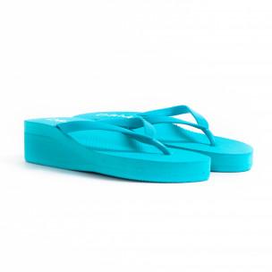 Papuci de dama D&M albaștri 2