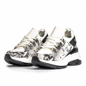 Pantofi sport de dama Dame Rose albe 2