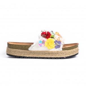 Papuci de dama Wellspring albi