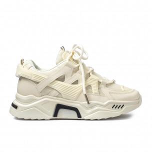 Pantofi sport de dama Sweet Shoes bej