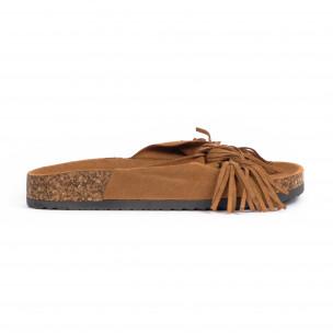 Papuci de dama Mellisa camel