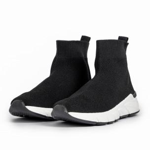 Pantofi sport negri tip șosetă de dama 2