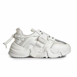 Pantofi sport de dama FM albe FM 2