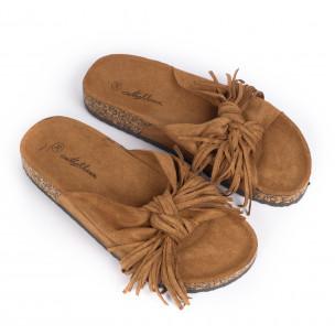 Papuci de dama Mellisa camel 2
