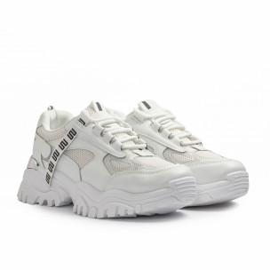 Pantofi sport de dama Maira albe 2