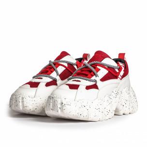 Pantofi sport de dama Sergio Todzi roșii 2