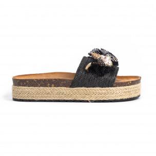 Papuci de dama Mix Feel negri