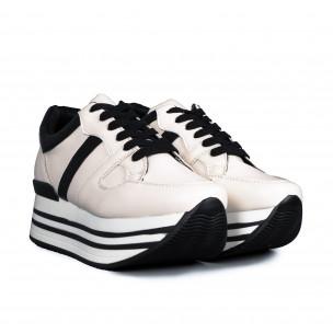 Pantofi sport de dama Martin Pescatore albe 2