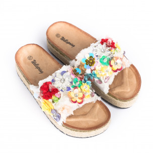Papuci de dama Wellspring albi 2