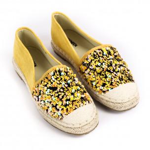 Espadrile de dama Yes Bonbon galbenă