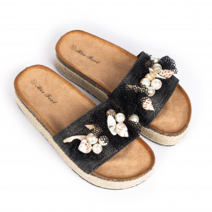 Papuci de dama Mix Feel negri 2
