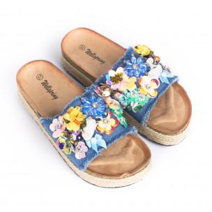 Papuci de dama Wellspring albaștri 2