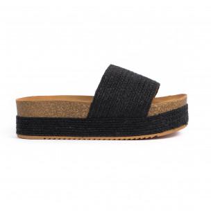 Papuci de dama Yes Bonbon negri
