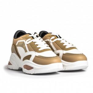 Pantofi sport de dama FM camel 2