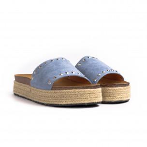 Papuci de dama Sweet Shoes albaștri 2