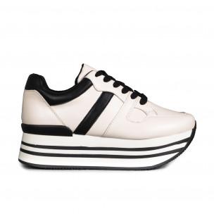 Pantofi sport de dama Martin Pescatore albe