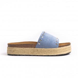 Papuci de dama Sweet Shoes albaștri