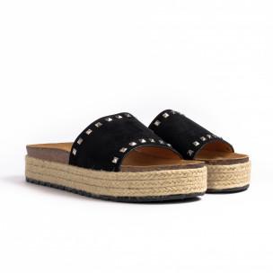 Papuci de dama Sweet Shoes negri 2