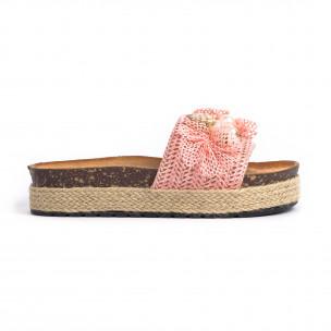 Papuci de dama Mix Feel roz