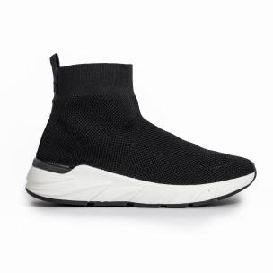 Pantofi sport negri tip șosetă de dama