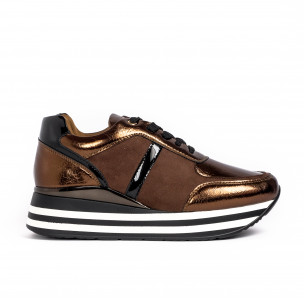 Pantofi sport de dama Martin Pescatore maro