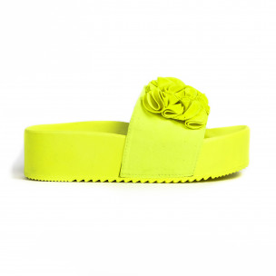 Papuci de dama Mellisa galbeni