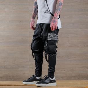 Pantaloni bărbați Open negri Open 2