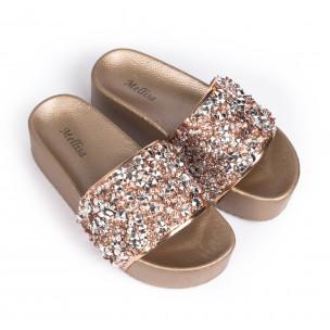 Papuci de dama Mellisa bej 2