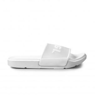 Papuci de dama Queen Vivi albi 2