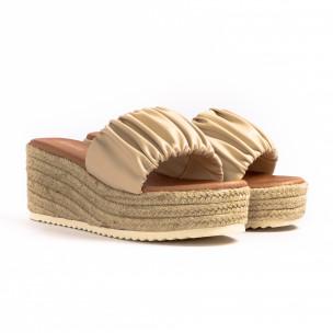 Papuci de dama Renda bej 2