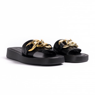 Papuci de dama Queen Vivi negri 2