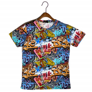 Tricou bărbați Made in Italy curcubeu