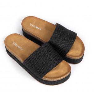 Papuci de dama Yes Bonbon negri 2