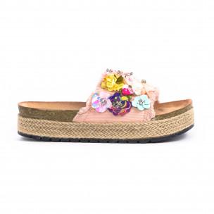 Papuci de dama Wellspring roz