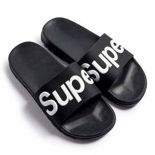 Papuci bărbați Super negri