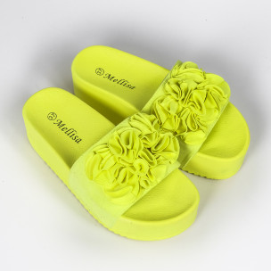 Papuci de dama Mellisa galbeni 2