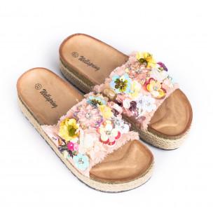 Papuci de dama Wellspring roz 2