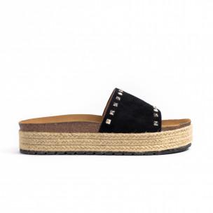Papuci de dama Sweet Shoes negri