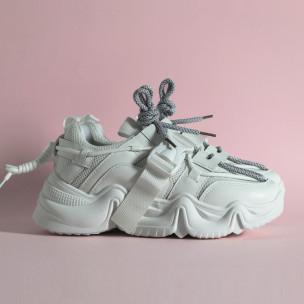 Pantofi sport de dama FM albe FM