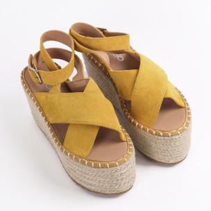 Espadrile de dama GoGo galbenă 2