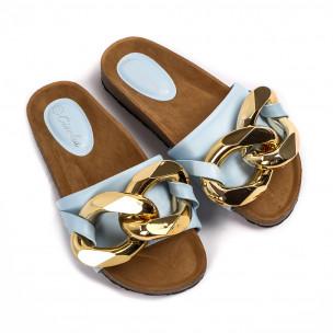 Papuci de dama Ciaodea albaștri 2