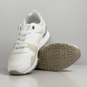 Pantofi sport de dama Lisa-w albe 2