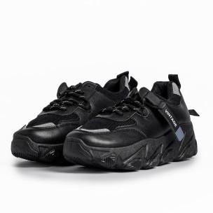Pantofi sport de dama FM negre 2