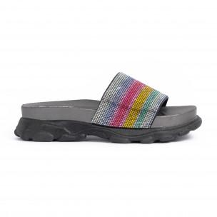 Papuci de dama Jomix curcubeu