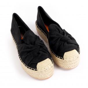 Espadrile de dama Yes Bonbon neagră