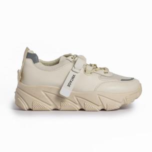 Pantofi sport de dama FM bej