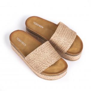 Papuci de dama Yes Bonbon bej 2